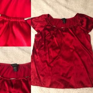 Red Silk Blouse (New Years Eve)